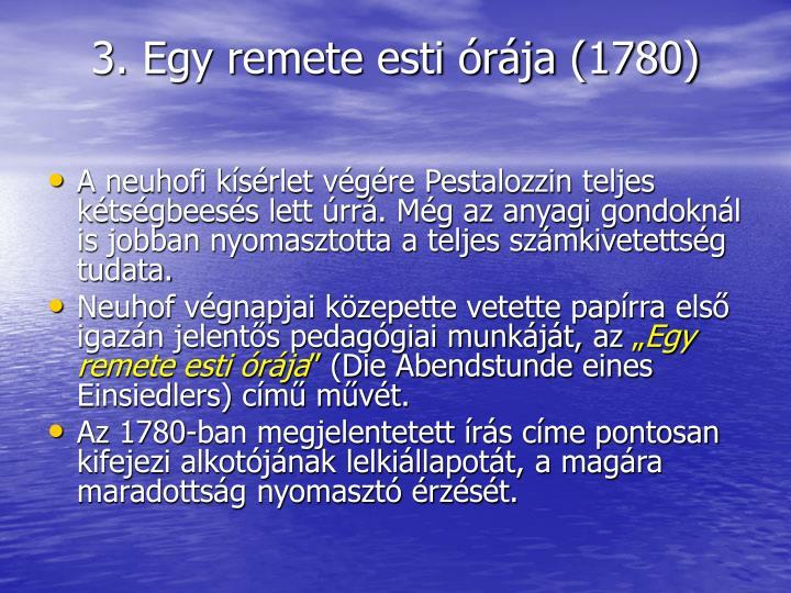 3. Egy remete esti rja (1780)