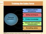 training the sales force