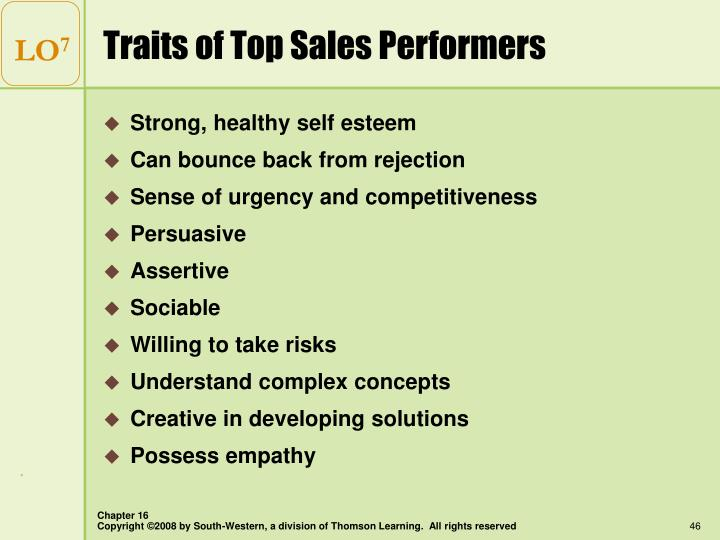 Traits of Top Sales Performers