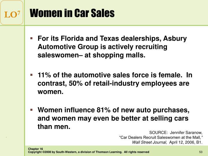 Women in Car Sales
