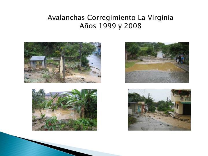 Avalanchas Corregimiento La Virginia