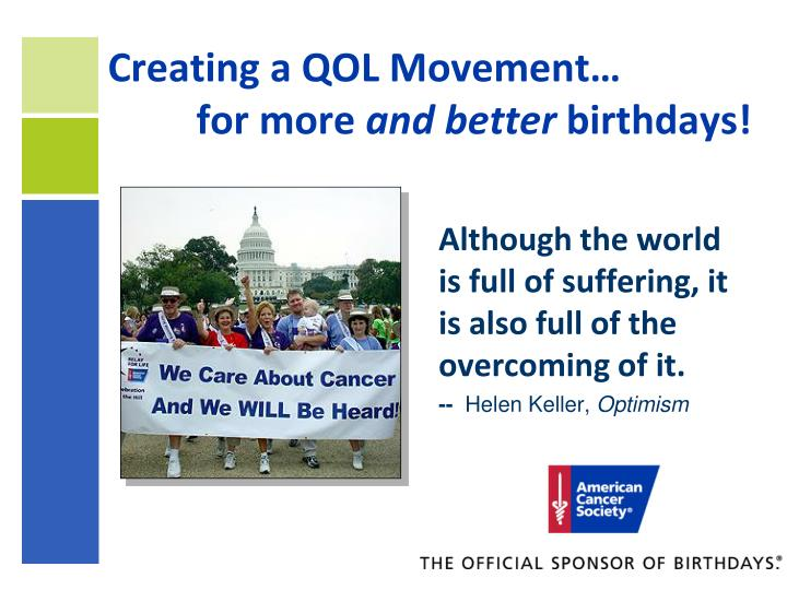 Creating a QOL Movement…