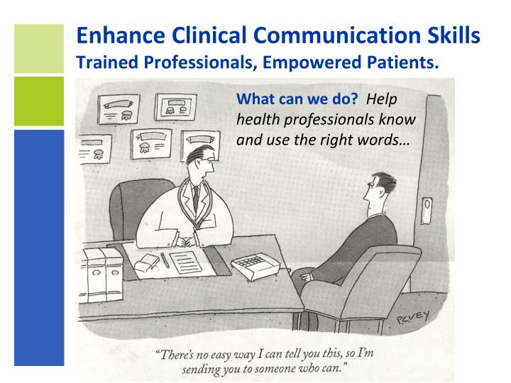 Enhance Clinical Communication Skills