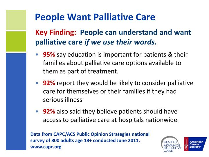 People Want Palliative Care