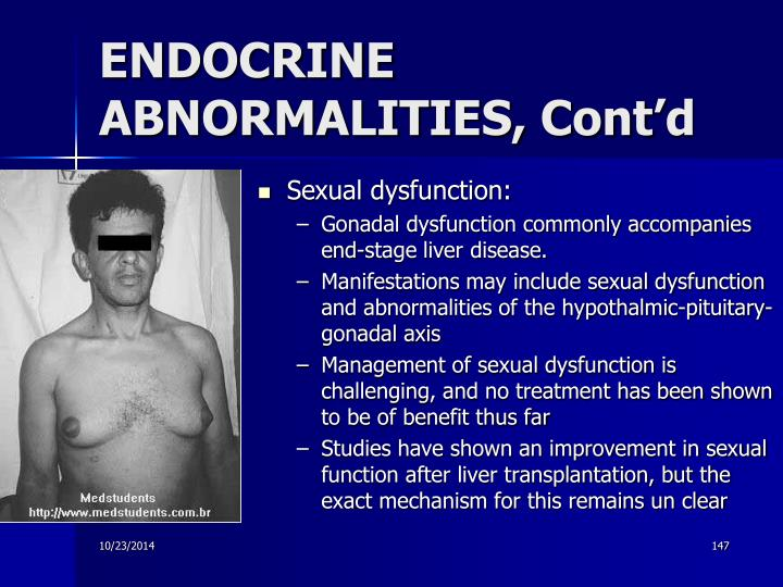 ENDOCRINE ABNORMALITIES, Cont'd