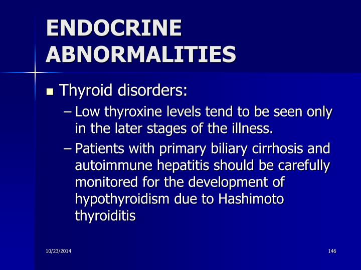 ENDOCRINE ABNORMALITIES