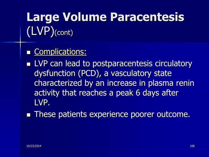 Large Volume Paracentesis