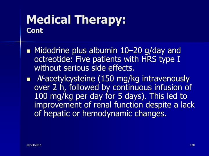 Medical Therapy: