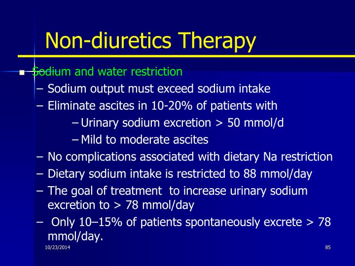 Non-diuretics Therapy