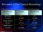prevention of first variceal hemorrhage