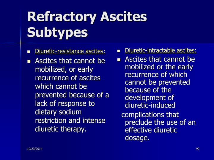 Diuretic-resistance ascites: