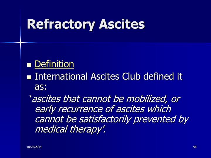Refractory Ascites