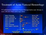 treatment of acute variceal hemorrhage4