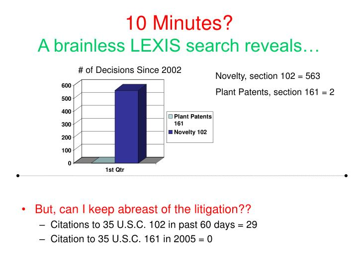 10 minutes a brainless lexis search reveals