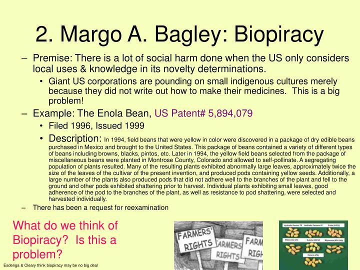 2. Margo A. Bagley: Biopiracy