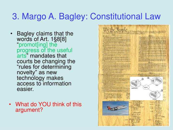 3. Margo A. Bagley: Constitutional Law