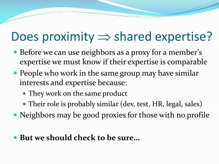 Does proximity