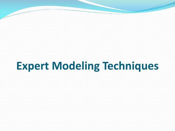 Expert Modeling Techniques