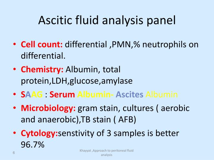 Ascitic fluid analysis panel