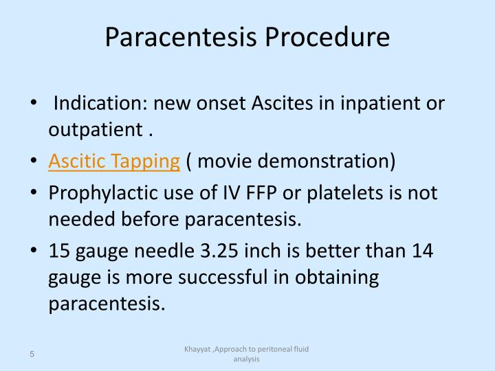 Paracentesis Procedure