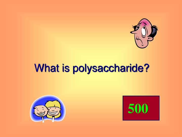 What is polysaccharide?