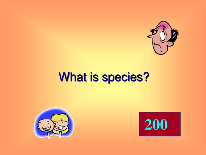 What is species?
