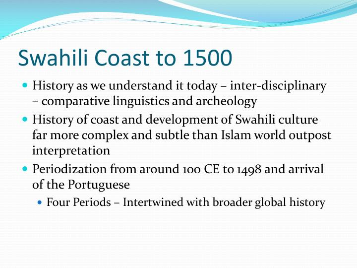 Swahili Coast to 1500
