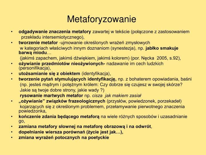 Metaforyzowanie