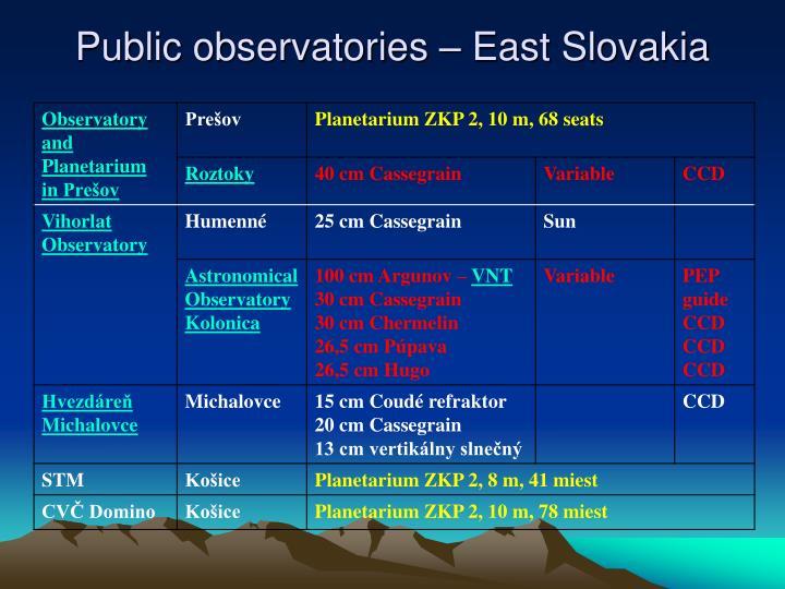 Public observatories