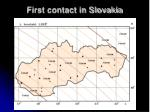 first contact in slovakia