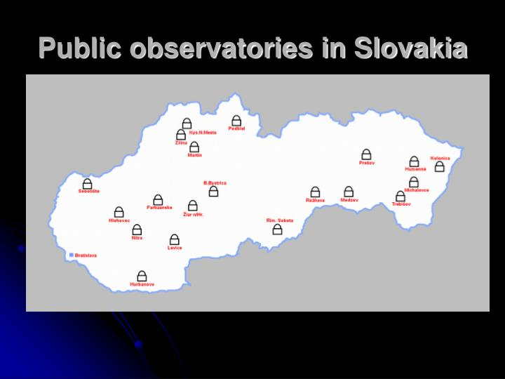 Public observatories in slovakia