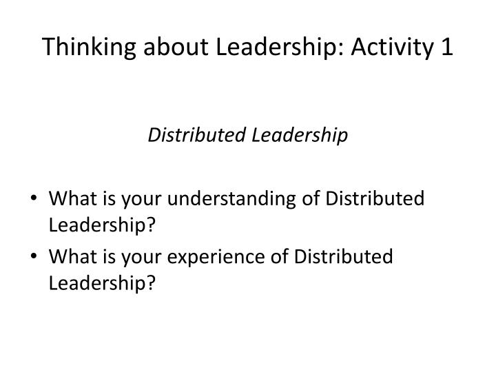 Thinking about Leadership: Activity 1