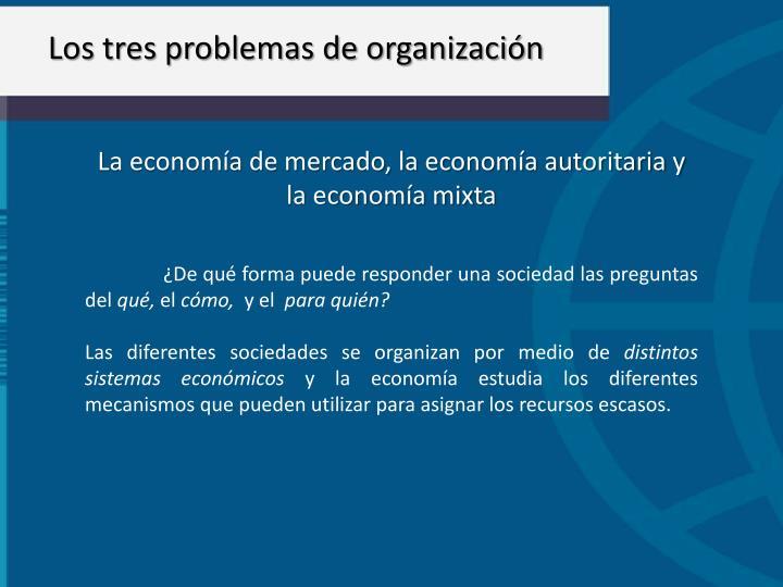 Los tres problemas de organización