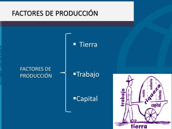 FACTORES DE PRODUCCIN