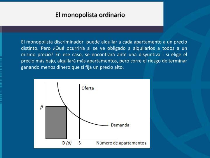 El monopolista ordinario