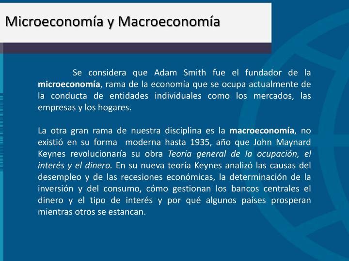 Microeconoma y Macroeconoma