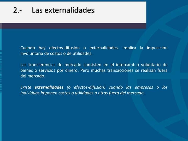 2.-Las externalidades