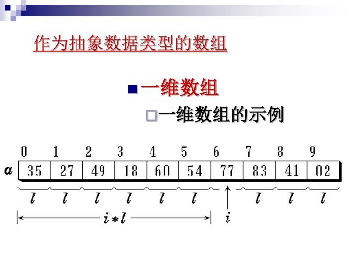 作为抽象数据类型的数组