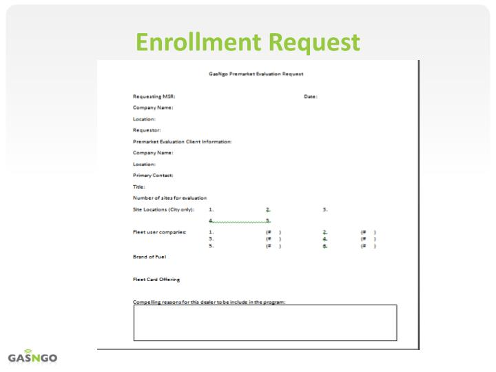 Enrollment Request