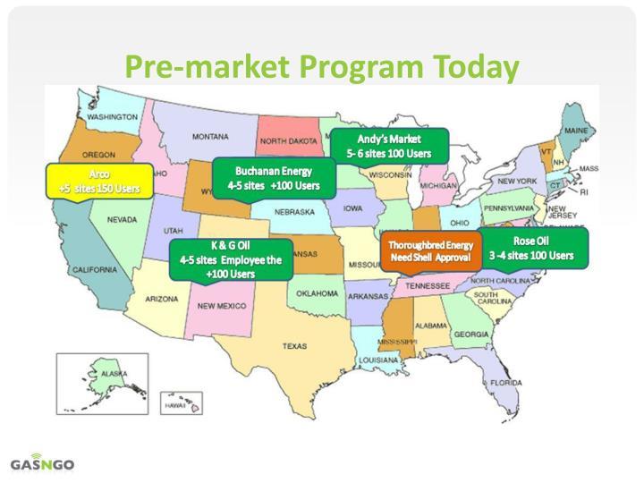 Pre-market Program Today
