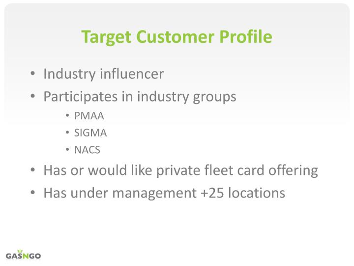 Target Customer Profile