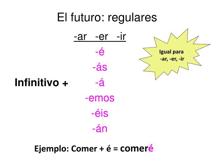El futuro: regulares