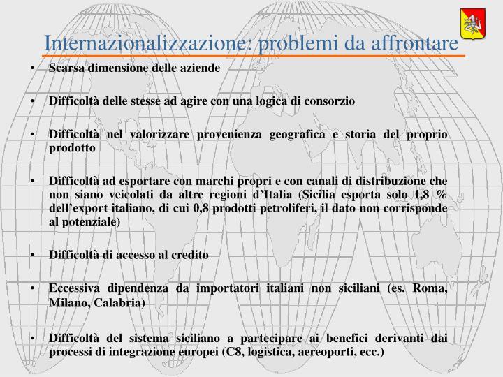 Internazionalizzazione: problemi da affrontare