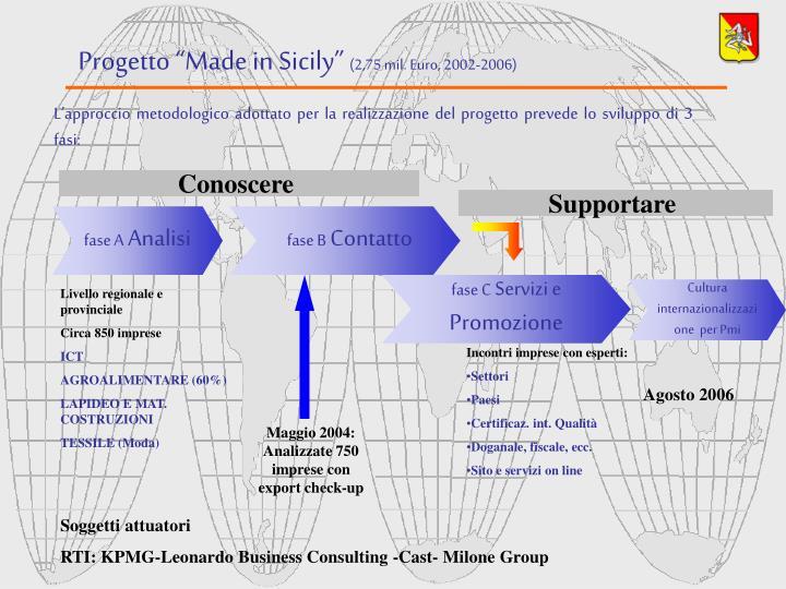 """Progetto """"Made in Sicily"""""""