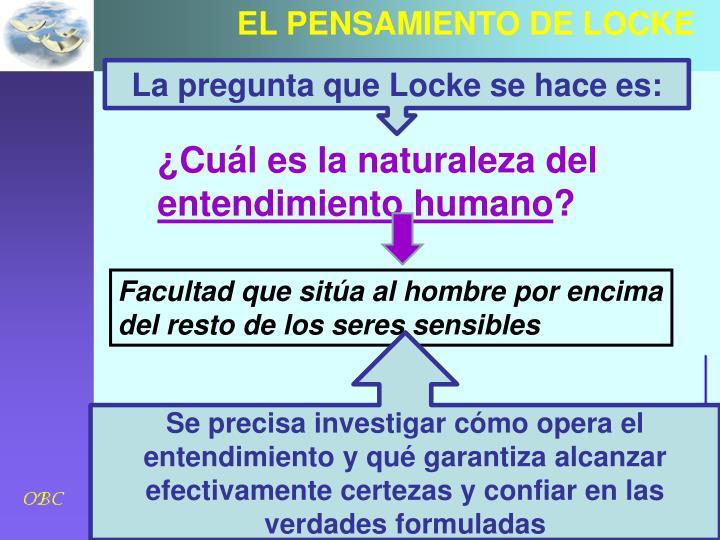 EL PENSAMIENTO DE LOCKE