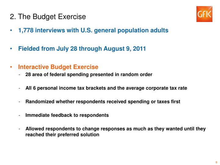2. The Budget Exercise