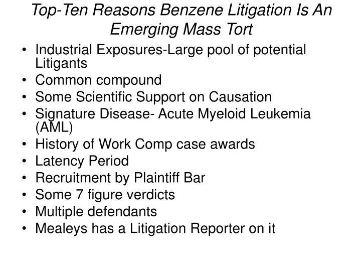 Benzene Litigation