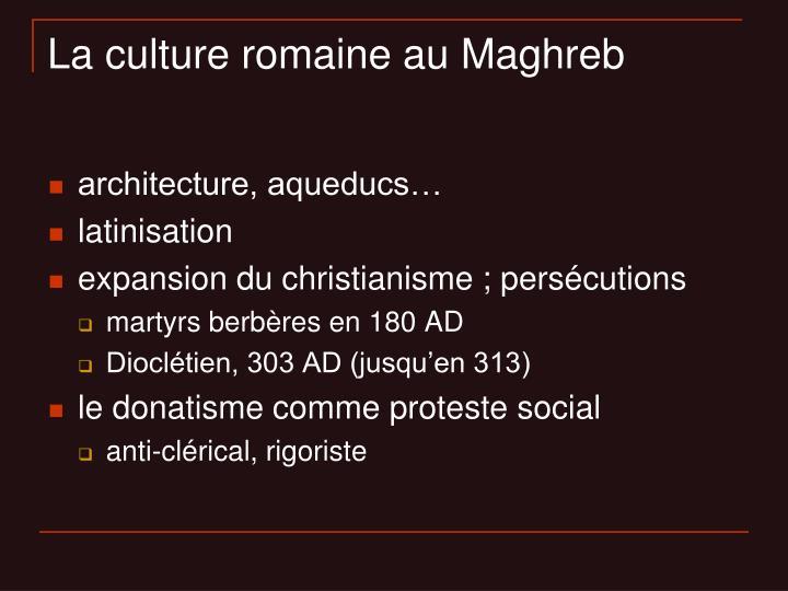 La culture romaine au Maghreb