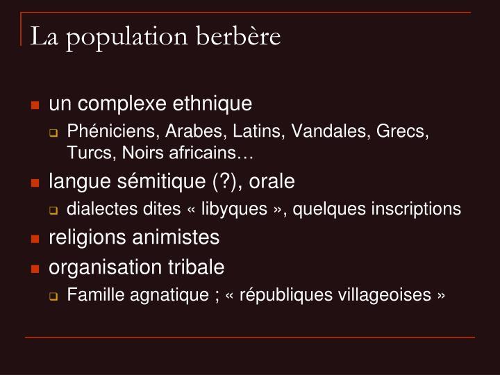 La population berbère