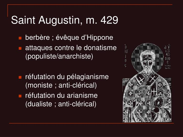 Saint Augustin, m. 429